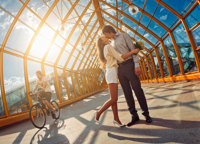 Майская фотосессия на Андреевском мосту в Москве