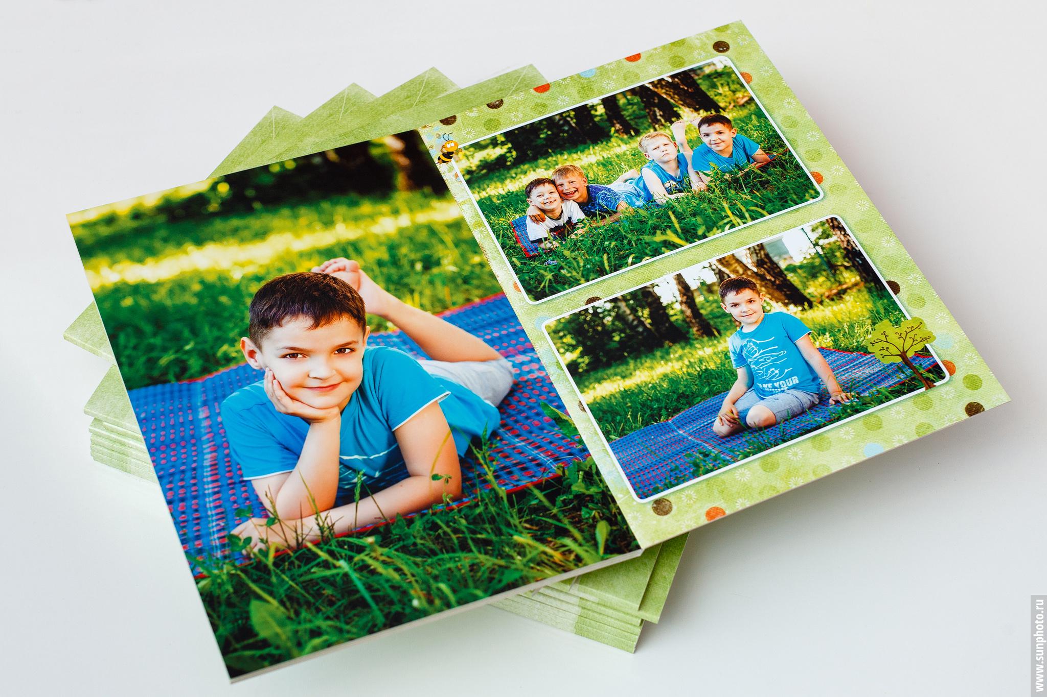 Пример разворота фотокниги (фотоальбома) на выпускной в детском саду