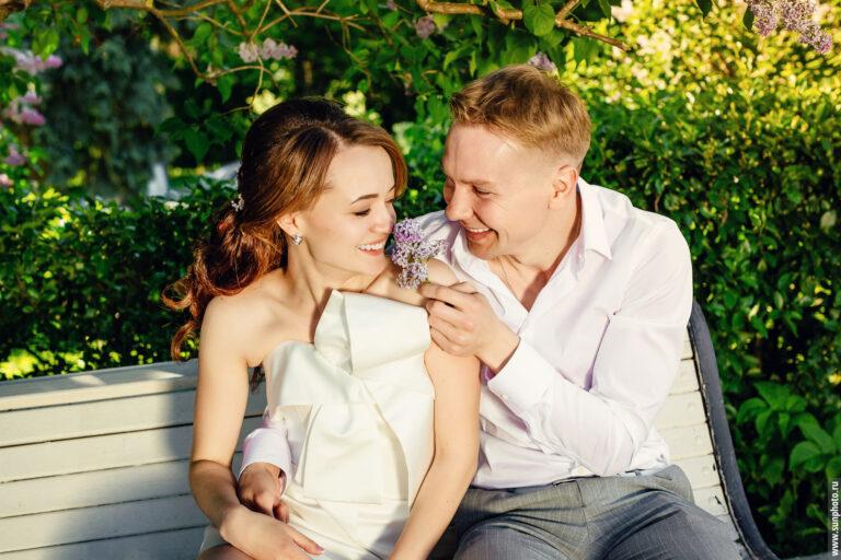 Весенняя свадебная фотосессия для Алекса и Насти