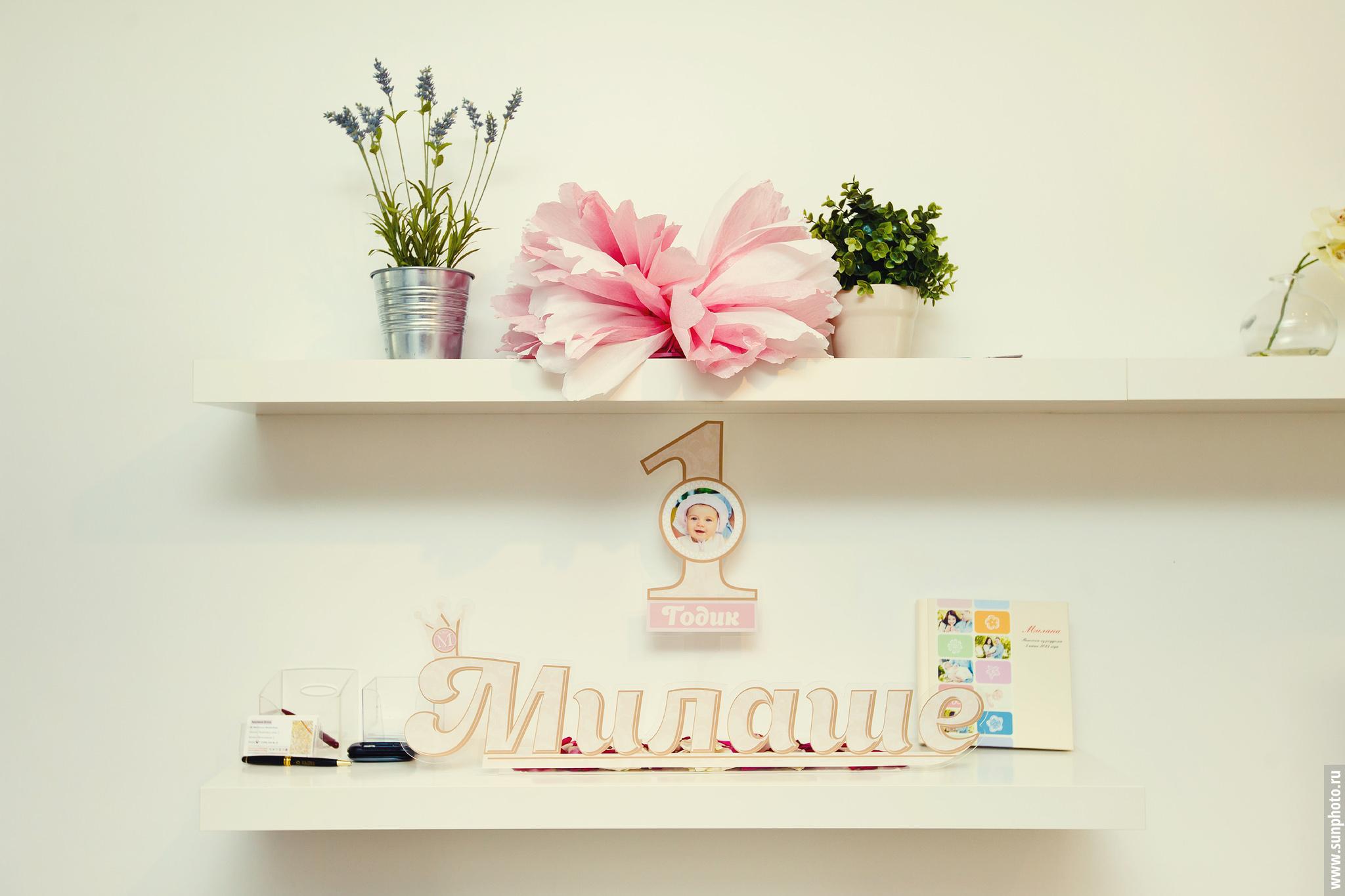 Фото с детского дня рождения - Милаше исполнился первый год