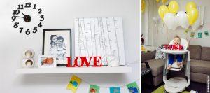День рождения Кирилла. Домашняя семейная фотосессия на годик.