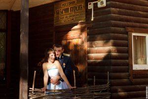 Фото с маленькой осенней свадьбы в Клину